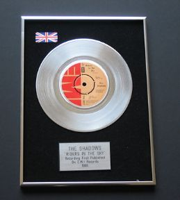 SHADOWS - Riders In The Sky Platinum single presentation DISC